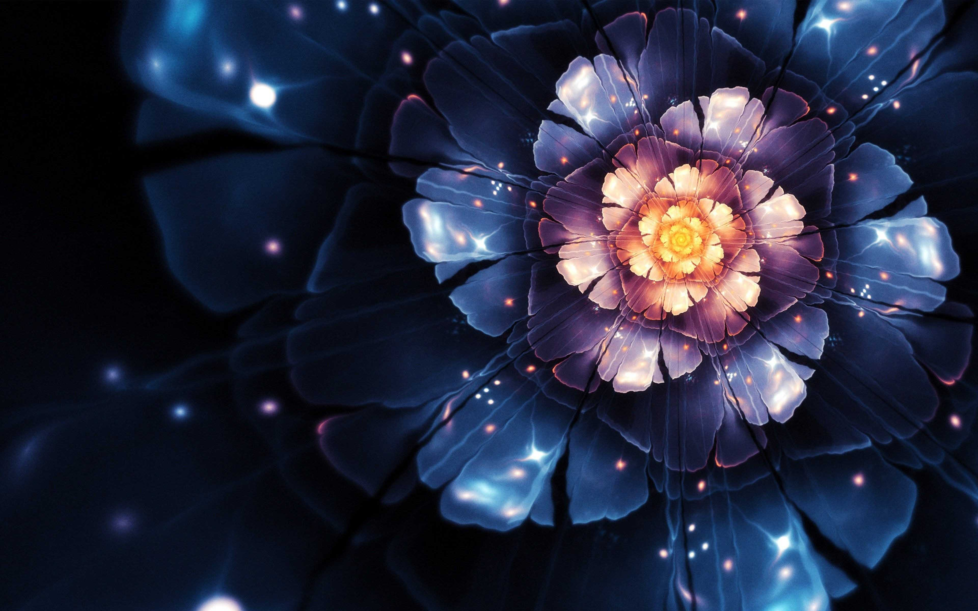 3D Abstract Flower 4K