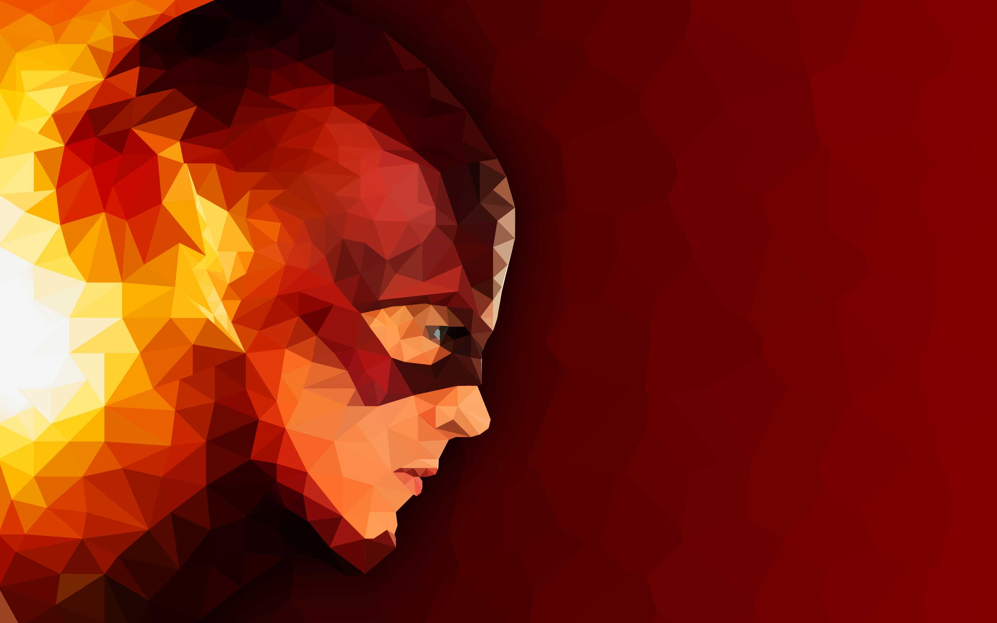The Flash Low poly Artwork