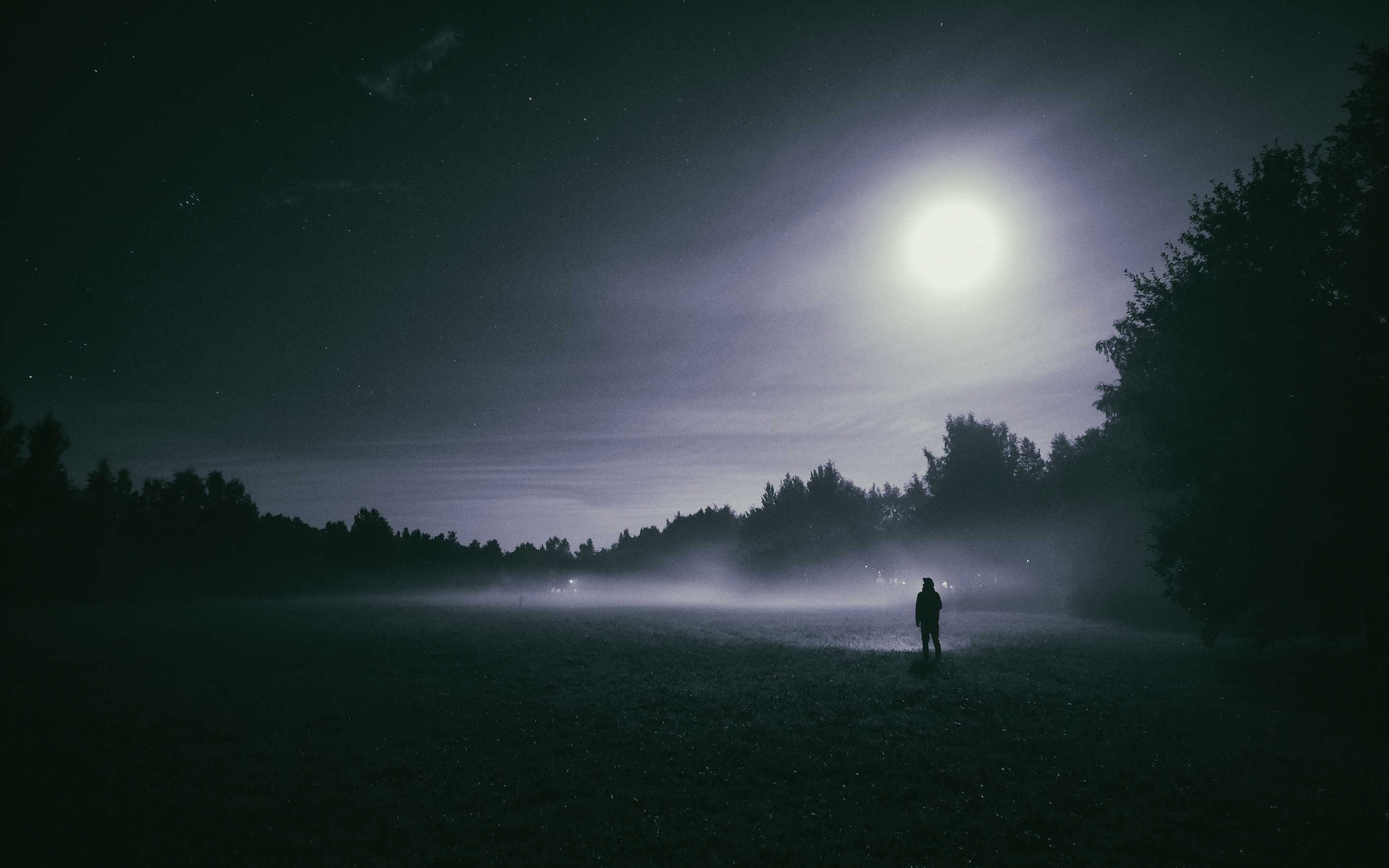 Foggy night Moon
