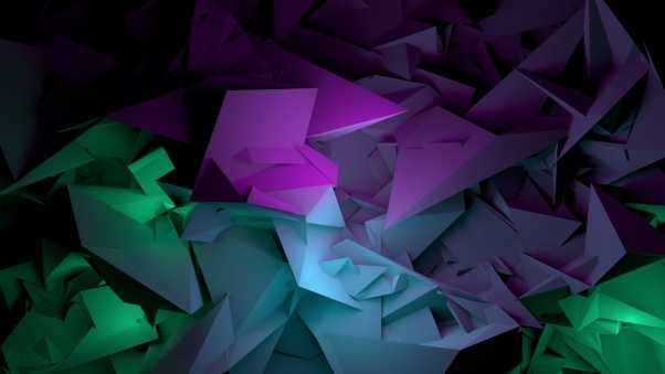 abstract, shapes, purple