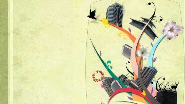 abstraction tower, colorful, animal