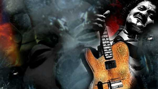 albert collins, guitar, graphics