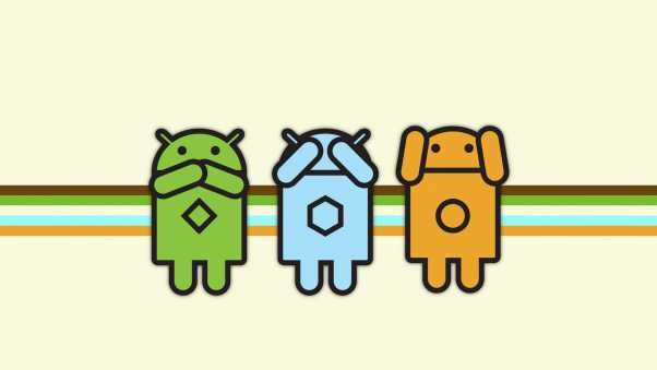android, green, blue