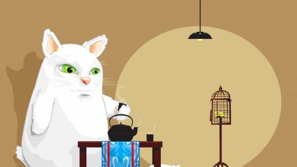 animal, tea, room
