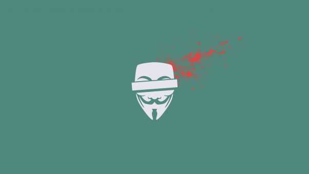 anonymous, blood, mask