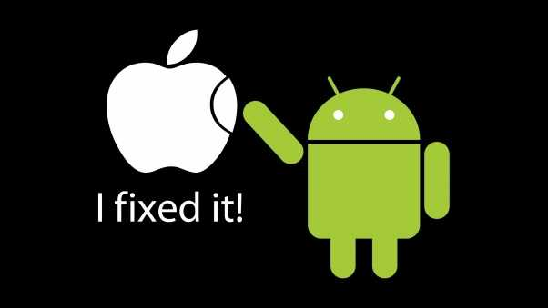 apple, android, white