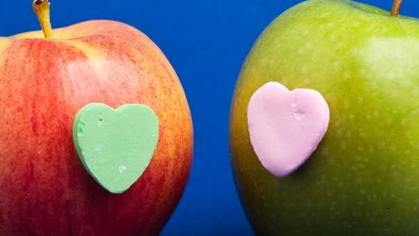 apple, heart, relationships