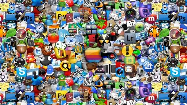 apple, icons, color