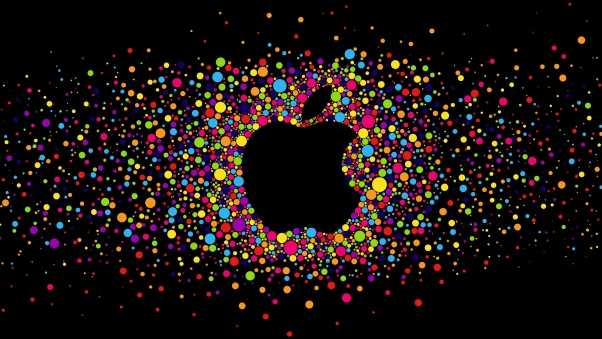 apple, logo, bright