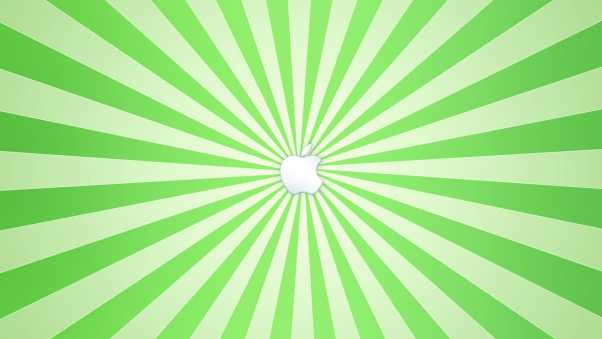 apple, vector, green