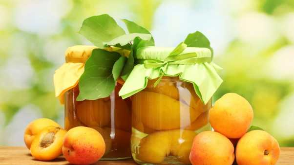 apricots, canned, cans