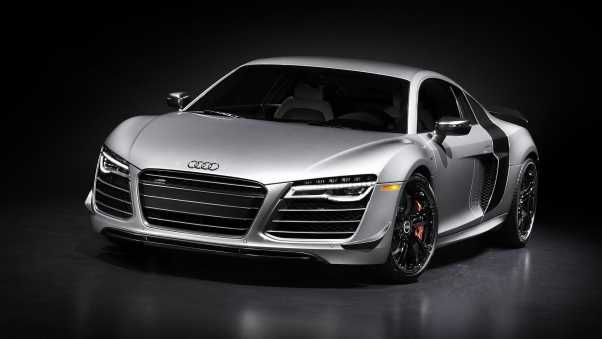 audi r8, silver, front view