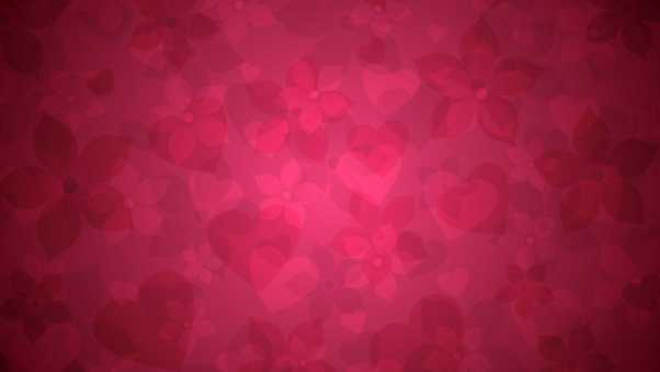 background, hearts, flowers