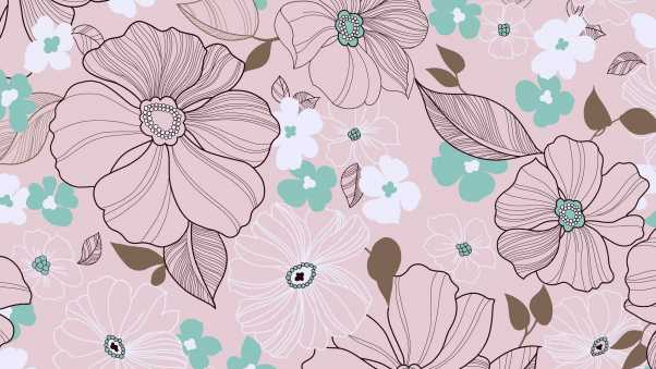 background, texture, flowers