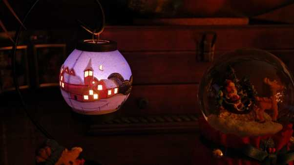 ball, toys, lamps