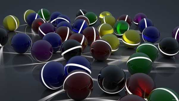 balls, a lot of, surface