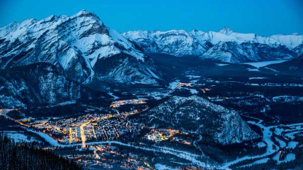 banff, canada, night