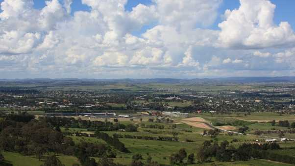 bathurst,  city, view from the top