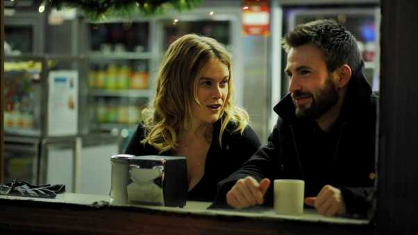 before we go, chris evans, alice eve