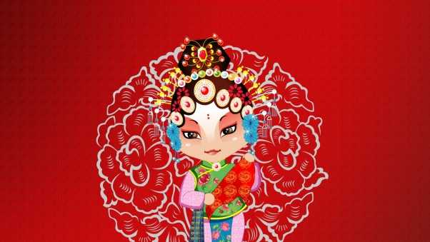 beijing opera, girl, costume designs