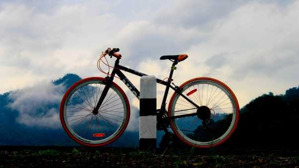 bicycle, sports, pole