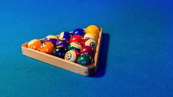 billiards, balls, triangle