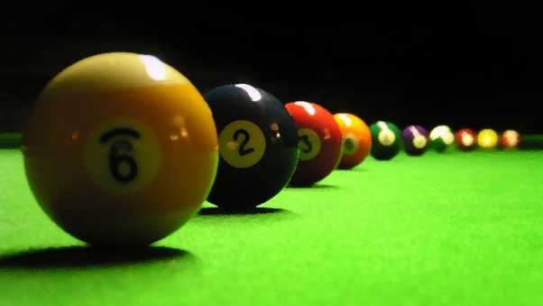 billiards, table, spheres