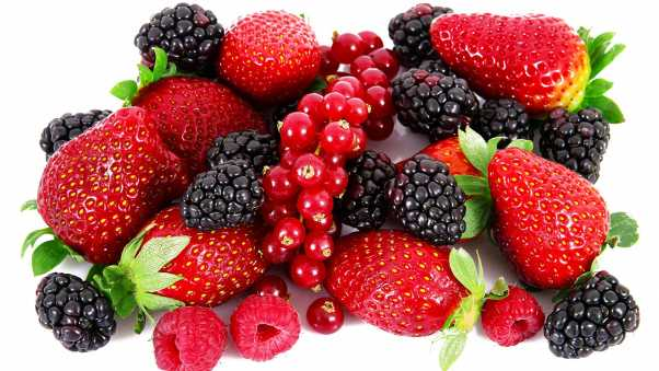 blackberries, strawberries, raspberries