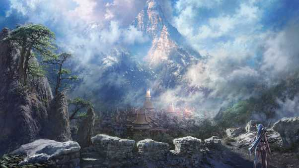 blade and soul, mountains, rock