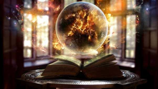 book, sphere, magic