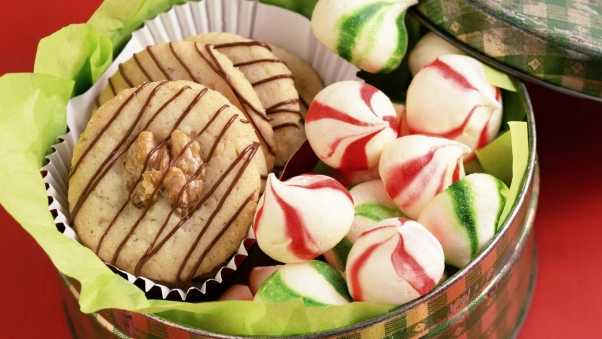 box of cookies, candies, cover