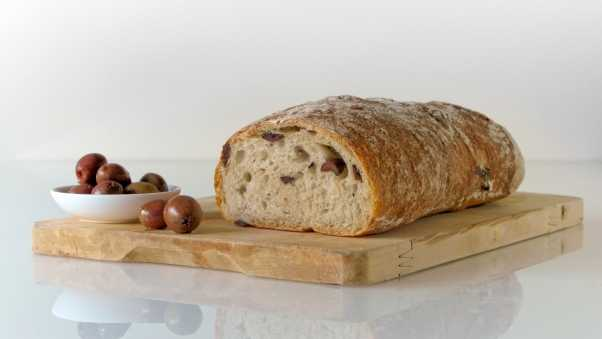 bread, olives, pastries