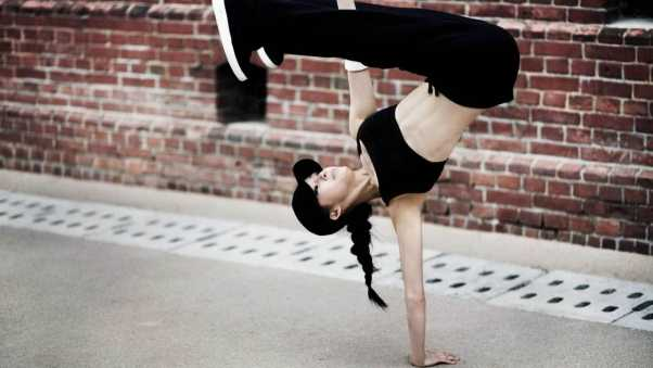 break dance, sports, girl