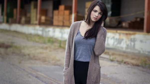 brunette, cute, jacket
