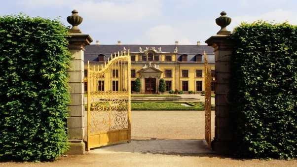 building, castle, gate