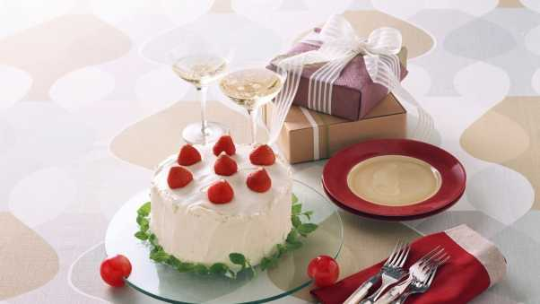 cake, gifts, boxes