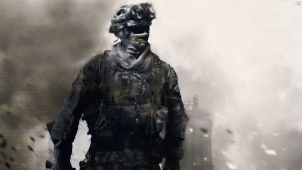 call of duty, soldier, mask
