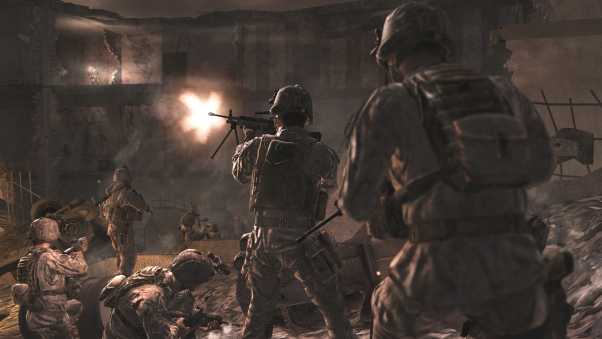 call of duty, soldiers, gun