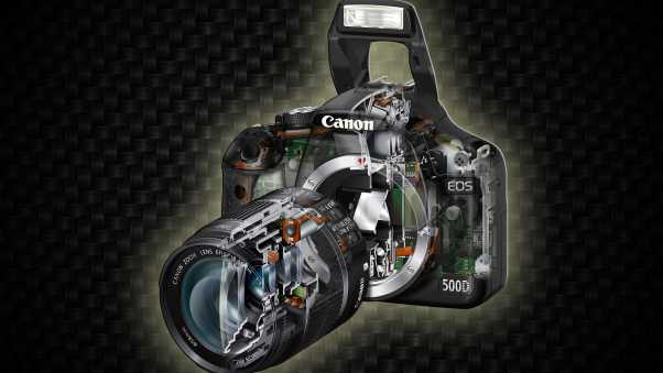 canon, camera, black