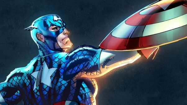 captain america, marvel, art
