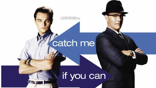 catch me if you can, leonardo dicaprio, frank abagnale