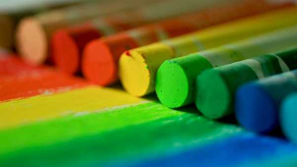 chalk, crayons, multicolored