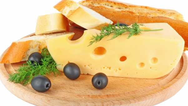 cheese, black, olives
