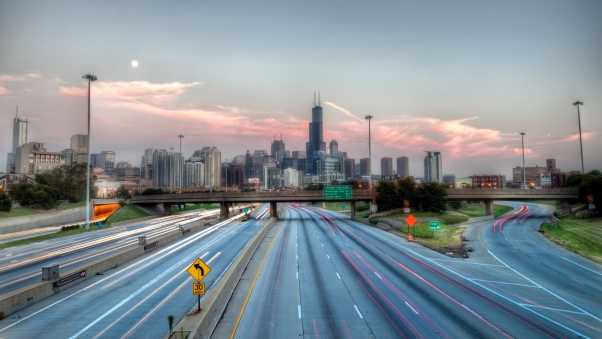 chicago, usa, highway
