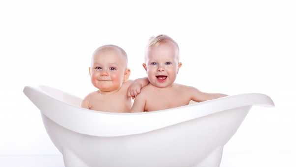 children, bath, smile