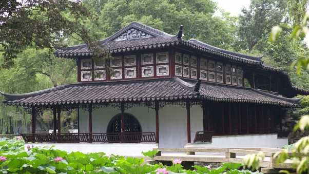 china, building, roof