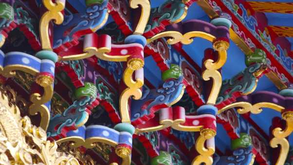 china, roof, decorated