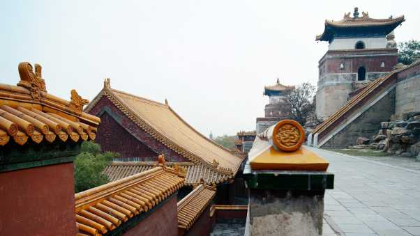 china, roof, structure