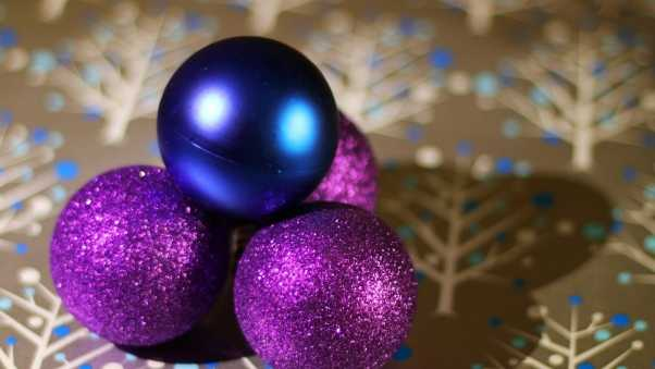 christmas decorations, balls, sequins