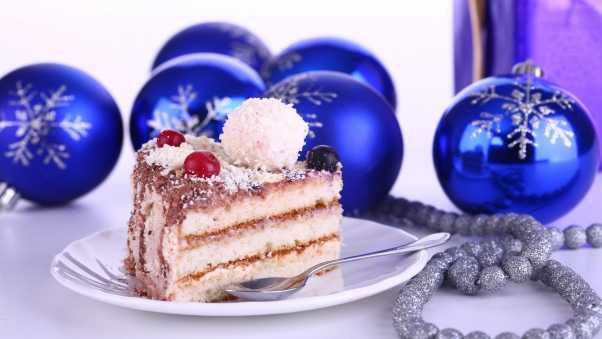 christmas decorations, cake, treat